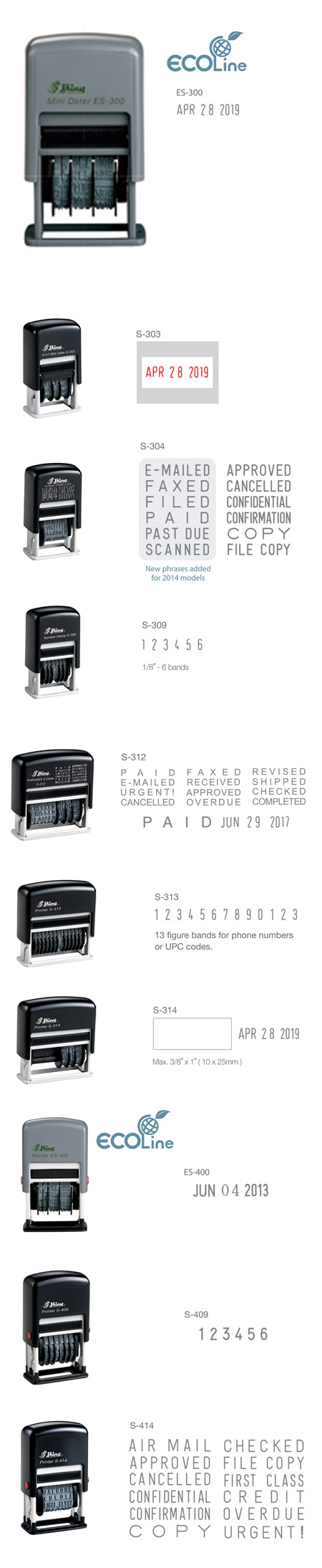 Printer Line Office Stamps